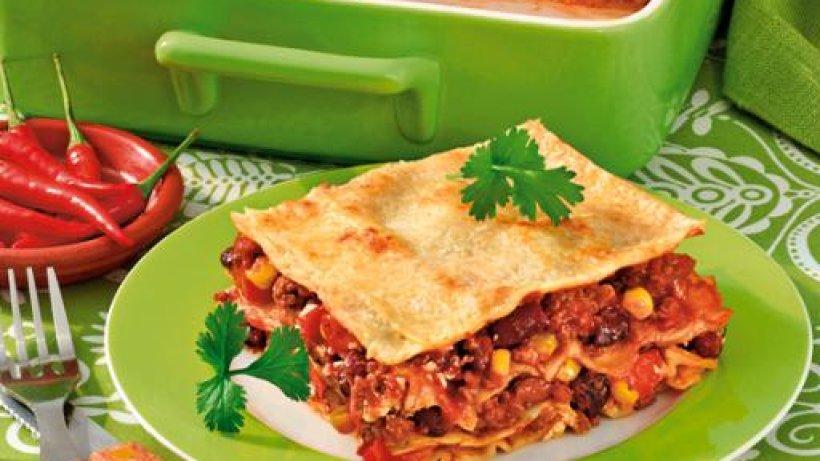 Lasagne mexikanisch mit hack und mais bild der frau for Mexikanisch kochen